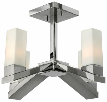 Fredrick Ramond 47201PNI Omni Halogen Nickel Finish 4-Light Contemporary Ceiling Light