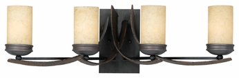 Varaluz 112B04 Aizen Four Lamp Vanity Light