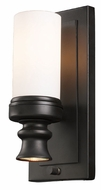 Landmark 66250-1-1 Newfield 12 Inch Tall Opal Etched Glass Sconce Lighting - Oiled Bronze