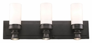 Landmark 66252-3-3 Newfield 3 Lamp 24 Inch Wide Oiled Bronze Vanity Light - Opal Etched Glass
