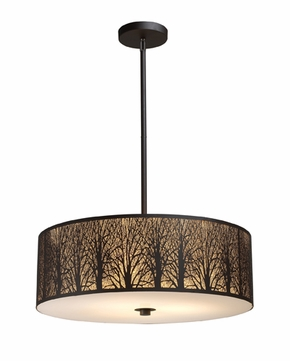 ELK 310755 Woodland Sunrise Large 5-lamp Modern Rustic Pendant Lighting