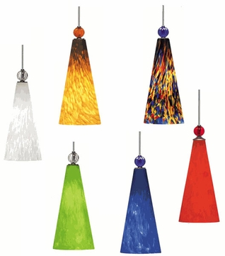 Tech TT-SPIRIT T-Trak Spirit Glass Line-Voltage Pendant Light with Fluorescent Option