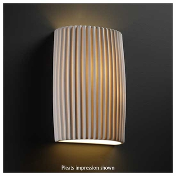 Justice Design POR8858 Cylinder Small Porcelain Wall Sconce
