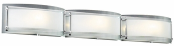 PLC 7836 Millennium Modern 3 Light Bowed Glass Vanity Fixture