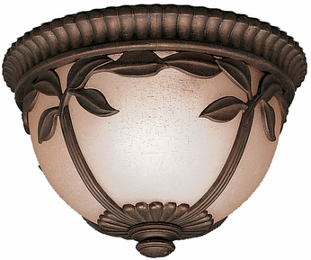 Lynnewood Gardens 7.5 Inch Fluorescent Exterior Flush-Mount Ceiling Light