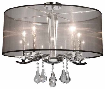 Artcraft AC364 Contessa Modern Semi-Flush Ceiling Light