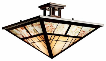 Kichler 65317 Prairie Ridge Art Glass Semi-Flush Ceiling Light
