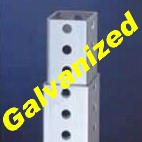 "1.25"" Telescopic Tubing - With Holes - Galvanized Finish - (24 ft)"
