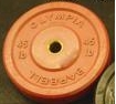 Olympic Bumper Plate Solid Rubber - 45 lbs - Red
