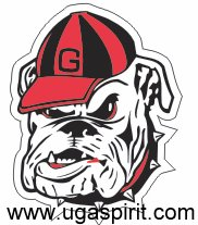 UGA Bulldog Head Decal