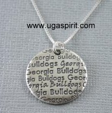 UGA Infinity Necklace