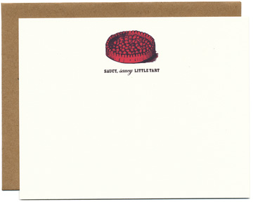 Saucy Tart Note Cards