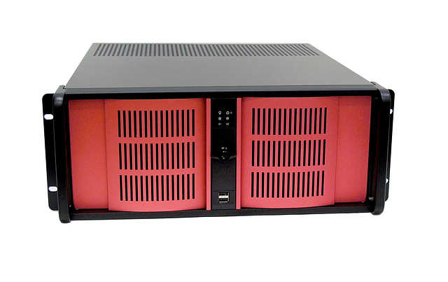 iStarUSA D-400 4U Rackmount Case with Red Colors Door