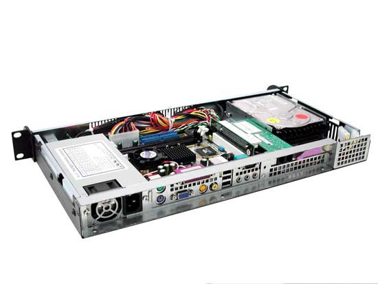 RM-1106 Mini ITX 1U 8.66in. Rackmount Case w/ 200watt TFX Power Supply