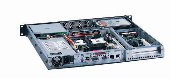 RM-1112 1U Rackmount Case 16.9 Deep, Supports ATX Motherboards