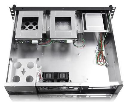 RM-2122 2U 2 Hot-Swappable SATA Trays Rackmount Case w/ Power Supply