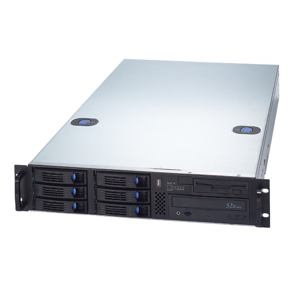 RM-2217 6 Hot-Swappable Hard Drive Trays 2U Rackmount Case