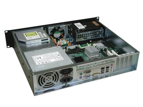 RM-2254 15.1 in. Deep 2U Rackmount Case, Two Hot-Swappable SATA Trays