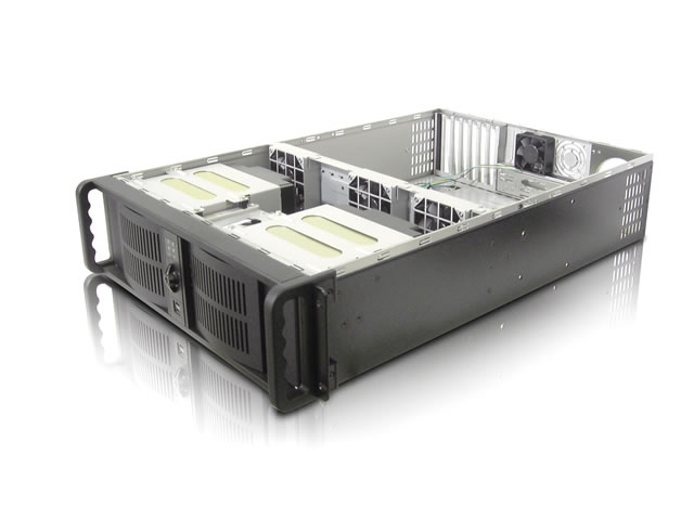 RM-3110LM6 6 Hot-Swappable Trays 3U Rackmount Case w/ 460w PS