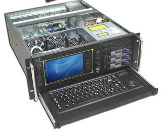 RM-4110 4U Rackmount Case with 7 Inch LCD Monitor and Keyboard