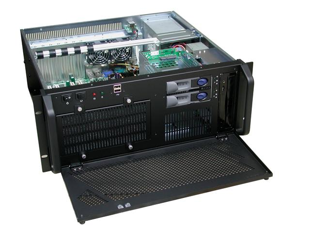RM-4407 16.1 in. Deep 2 x 3.5 Hot-Swappable HD Trays 4U Rackmount Case