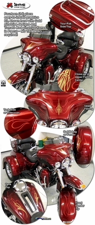 Harley-Davidson Touring Bikes Two Color Pinstripe Graphics Kit 2
