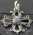Rainbow Moonstone cross