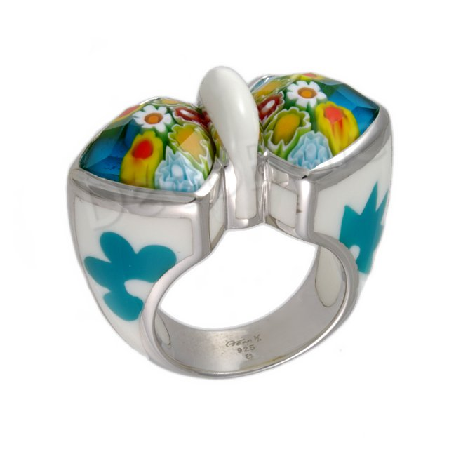 turquoise dreams Millacreli glass ring