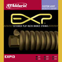 D'Addario EXP13 80/20 Bronze Acoustic Guitar Strings Custom Light 11-52
