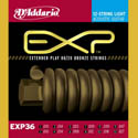 D'Addario EXP36 80/20 Bronze 12 String Acoustic Guitar Strings Light 10-47