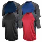 Majestic Featherweight Therma Base 3/4 Sleeve Tech Fleece Shirt I756