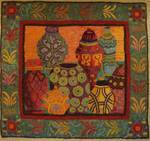 Moroccan Vessels by Sharon Smith - Pattern only or Complete Rug Hooking Kit