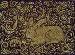 Rabbit in the Cabbage Patch by Sharon Smith - Pattern Only or Complete Rug Hooking Kit