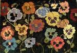 Pansies by Sharon Smith-Pattern Only or Complete Rug Hooking Kit