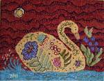 Swan Lake by Sharon Smith-Pattern Only or Complete Rug Hooking Kit