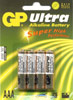 AAA Batteries Pack of 4 G.P Ultra Alkaline (sometimes packaged i