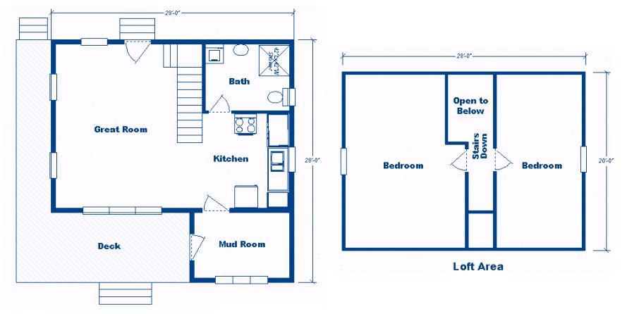 yhst 62123752798672_2263_2312390 x 28' cabin w loft plans package ...