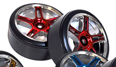1/10th Drift Tires+Rims 2PCS (ReD)