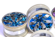 1/10th RC Truck Rims 2PCS (Chrome Blue)