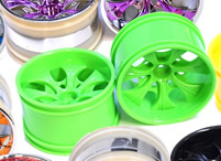 1/10th rc truck rims 2pcs (green)
