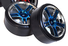 1/10th Drift Tires+Rims 2PCS (Blue)