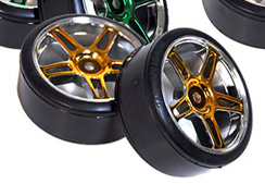 1/10th Drift Tires+Rims 2PCS (Gold)