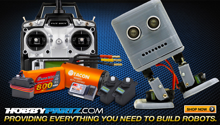 Hobbypartz.com Providing Everything You Need to Build Robots!
