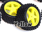 1/10th rear buggy wheels+rims 2pcs (yellow)