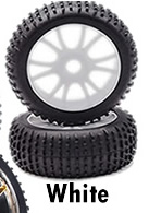 1/8th Buggy Wheels+Rims 2PCS (White)