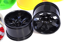 1/10th RC Truck Rims 2PCS (Black 12mm Hex)