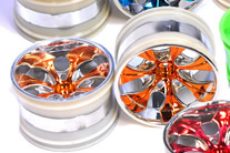 1/10th rc truck rims 2pcs (chrome orange)