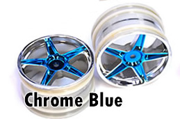 1/10 Rear Buggy Rims 2PCS (Chrome Blue)