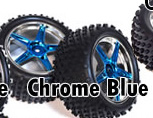 1/10th rear buggy wheels+rims 2pcs (chrome blue)