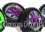 1/10th REAR Buggy Wheels+Rims 2PCS (Chrome Purple)